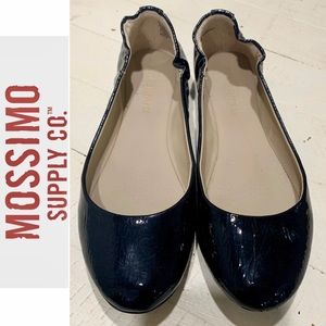 Mossimo Supply Co. Black Patent Stretch Flats